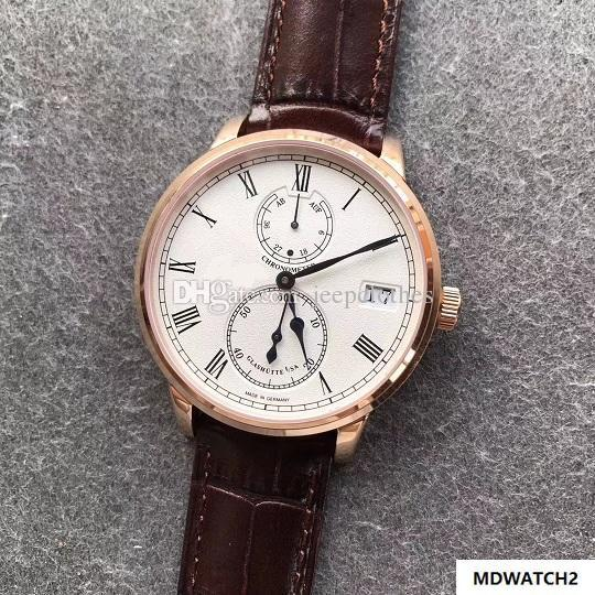 mekanik el su geçirmez saatler sarma kol saati 42mm gündelik saati erkek Senatör Kronometre 1-58-01-05-34-30 A.58-01 mens.