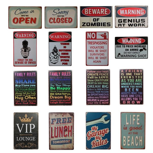 Garage Shell Champion Motor Oil Retro Rustic Tin Signs Wall Art Vintage Tin Poster Cafe Shop Bar Home Decor Metal Painting DH0414