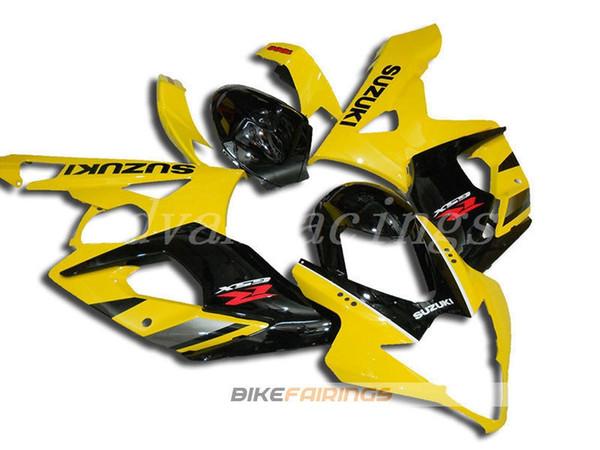 3Gifts Nueva ABS motocicleta Kits de carenados de bicicleta aptos para Suzuki GSXR1000 K5 2005 2006 05 06 GSX-R1000 conjunto de carrocería fresco amarillo negro