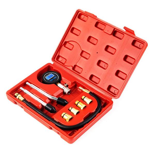 Automotriz Cilindro tabla de prueba Indicador de presión reparación tabla de prueba del motor del cheque rápida Kit Digital Display