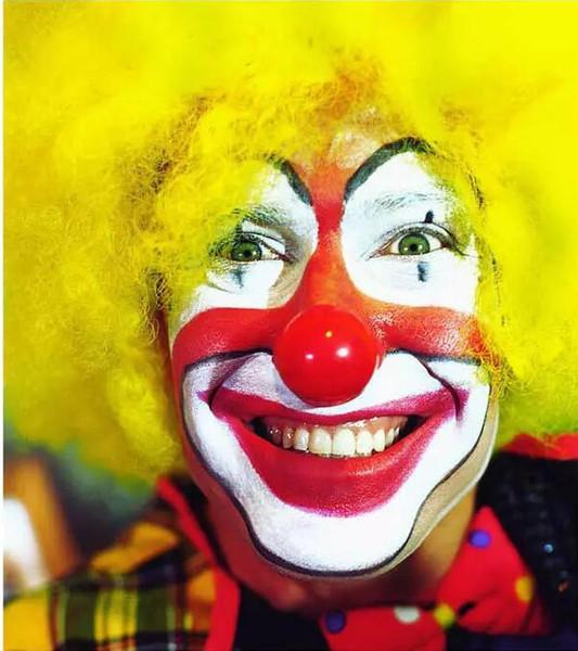 Halloween Nouveauté Clown Masque et Perruques Visage Complet Latex Couleur Masque Cheveux + Masque 2 PCS Cosplay Chapeaux Cheveux De Bal De Props Props Danse Costume