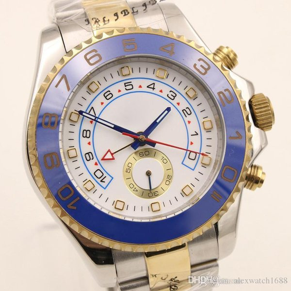 2019 New Yacht Mens Wrist Watches Master Automatic Mechanical Movement Two Tone 44MM Sapphire Dial 116681 Oyster Male Clock Watch