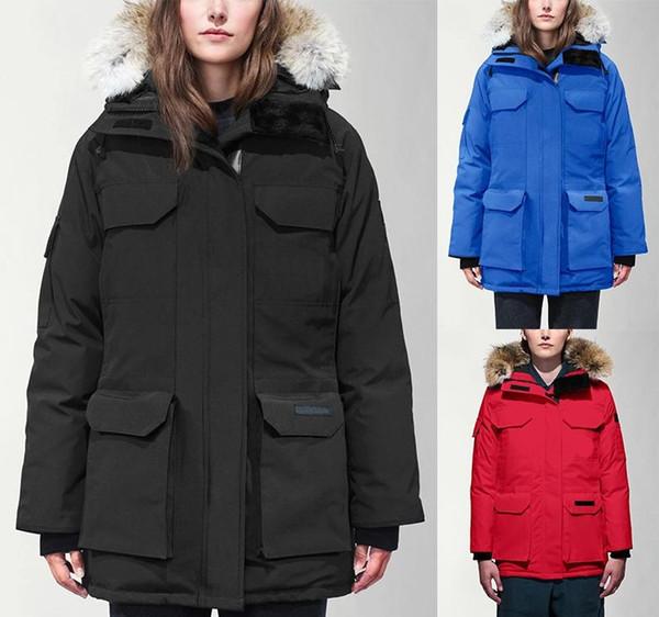 Canada 2020 Les femmes Parka Ours fourrure Doudoune chaud Goosefeather Manteau Épaissir capuche Doudoune Fourrure d hiver des manteaux femmes