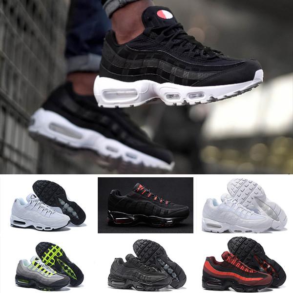 official photos 3e306 fc096 Compre Nike Air Max 95 2018 Novo 95 Tênis De Corrida Dos Homens Casual 95  Plus Calçados Esportivos Das Mulheres Dos Homens Athletic Snerkers ...