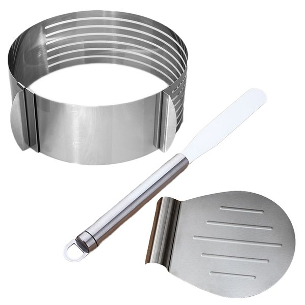 3pcs Stainless Steel Cake Lifter Spatula and Cake Slicer Set Pizza Transfer Tray Kitchen Tools for Cakes Pizzas Pies and Cookies