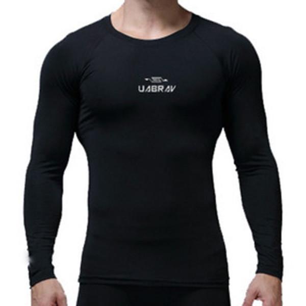 Yeni Uzun Kollu Spor tişört Erkek O-boyun Katı Renk Siyah Gri Beyaz Termal Running İçin İlkbahar Sonbahar Kış Tops