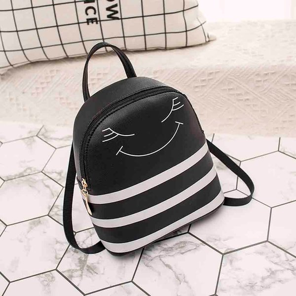 Backpack Women Small Mini Travel New Fashion Casual PU Girl Headphone Hole Slung Mobile Phone Purse Leather Bag #YY