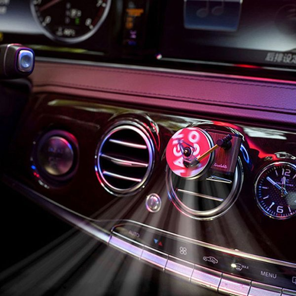 Car Turntable Air Freshener Record player Air Outlet Aroma Perfume Diffuser fragrance car Perfume