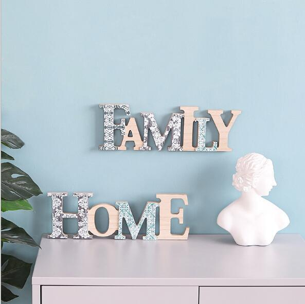 2019 Creative Home Letters Wall Decorations Baby Room Decoration Family Alphabet Wall Hanging Landscape Wall Sdecorations Decorative Objects From