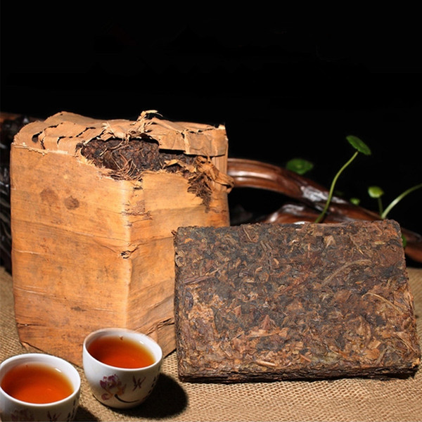 top popular Preference 250g Yunnan Ripe Puer Tea Ancient Tree Pu'er Tea Brick Black Puer Ancestor Antique Honey Sweet Dull-red Puerh Tea 2019