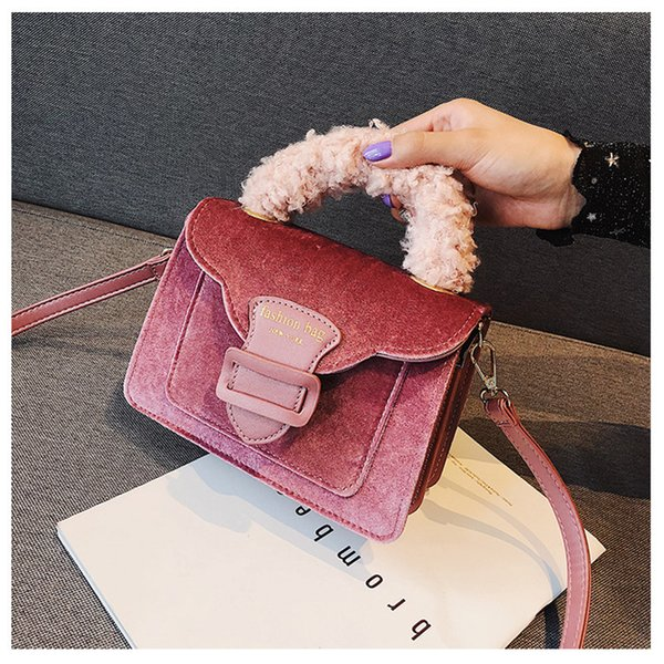 Luxury Velvet Lady Cross Body Fashion Autumn Winter Flap Shoulder Bags for Women Creative Fashion Totes Best Valentine's Day Gift