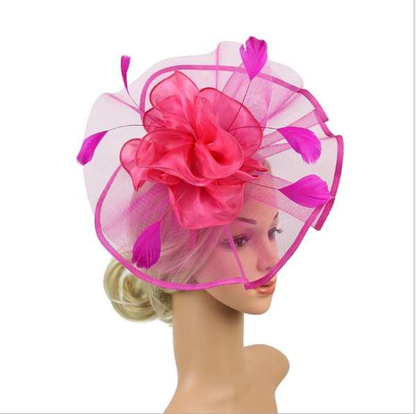 Feather screen bride's headdress big hat party decoration in Europe and America