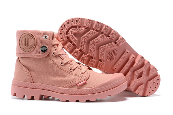 Palladium High-top Canvas Shoes Palladium Ankle Boots Trainers Pink Casual Shoes For Womens 2019 Latest Style