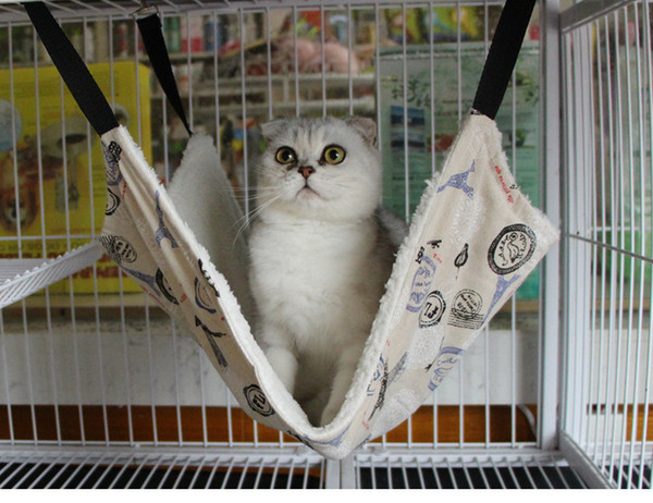 Pet Kitten Cat cage Hammock Removable Hanging Soft Bed Cages for Chair Kitty Rat Small Pets Swing 7 colors dog cat mat cushion