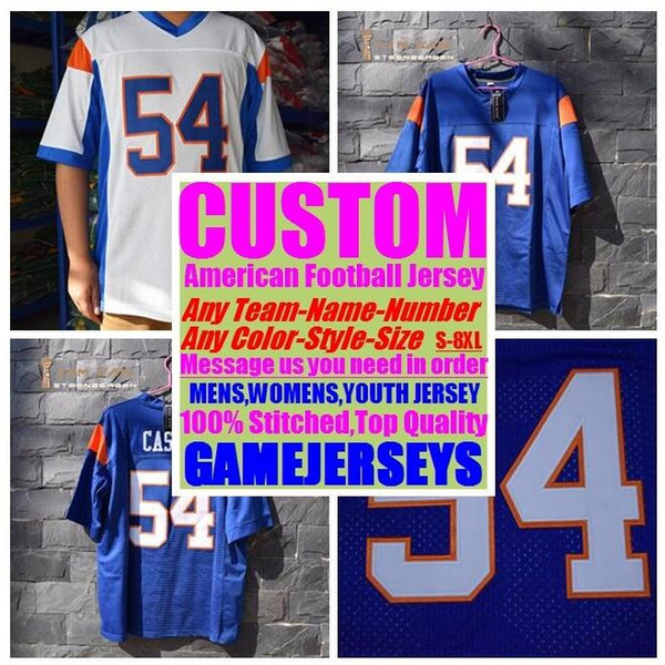 top popular Custom american football jerseys college cheap authentic rugby retro sew sports jersey stitched mens womens youth kids 4xl 5xl 6xl 7xl 8xl 2019