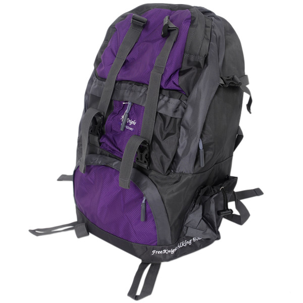 Free Knight 50L FK0218 Outdoor Waterproof Nylon Hiking Camping Backpack Purple