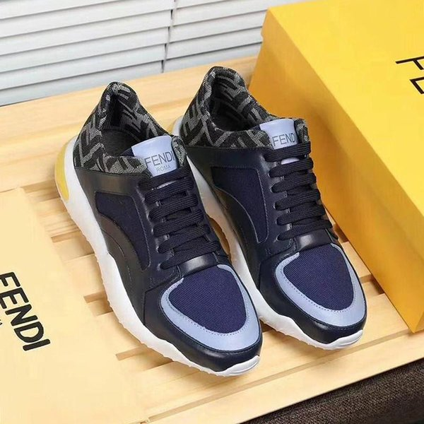 FendiROMA Fashion Sneaker Tech Fabric Low Tops Mens Shoes Herren Luxus Marken Schuhe Sports Lace Up Shoes Breathable Plus Size Casual M Naot Shoes