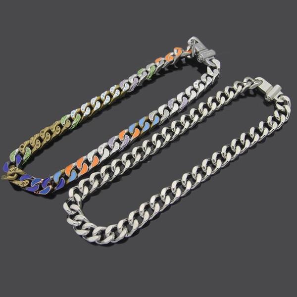 Новые мужские ожерелье серебро Толстые цепи ожерелье ожерелья из нержавеющей стали Нефть падения цветов Печатается цепи подарка ювелирных изделий Бесплатная доставка