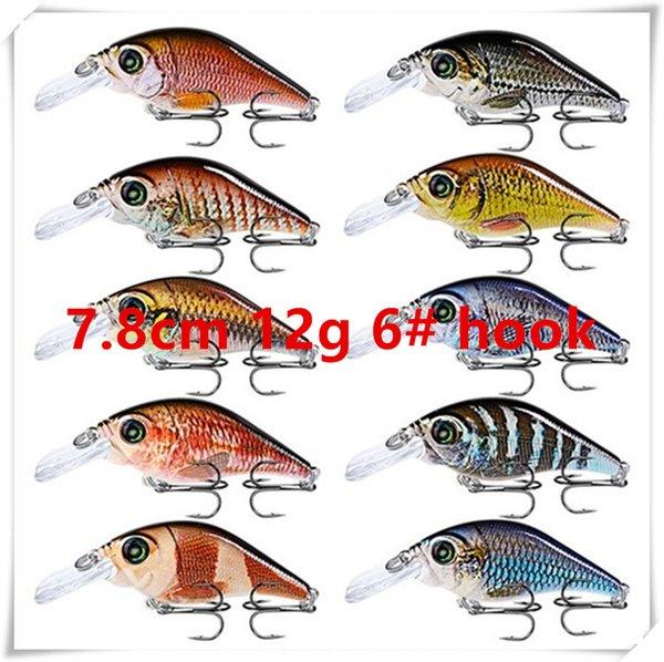 7.8cm 12g 6# hooks