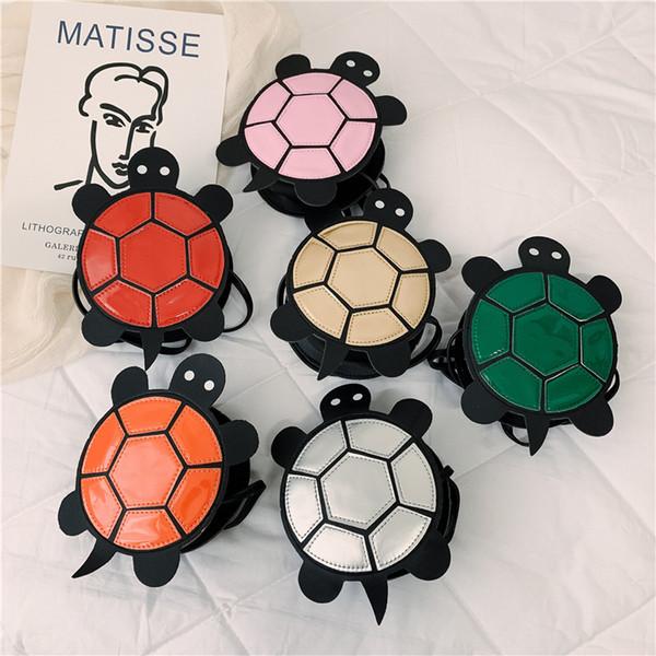 Bolsas de bebé para niños bolsos de diseño 2019 la más nueva forma de la manera Mini tortuga de dibujos animados de la princesa monederos niñas Cross_body bolsas de monedas Childrten Bolsas Gif