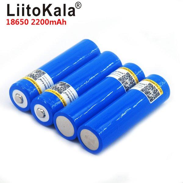 LiitoKala 18650 3.7v 2200mAh Capacità batteria Li-Po ricaricabile 18650 per auto / giocattoli / torcia