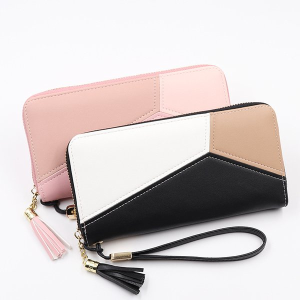 Bokinslon Woman Wallet Brand Fashion PU Leather Large Capacity Long Section Zipper Women Wallet Fashion