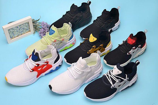 top popular Dharma react presto element shoes men women sneakers chaussures trainer Witness Protection Brutal Honey Rabid Panda psychedelic lava 2019