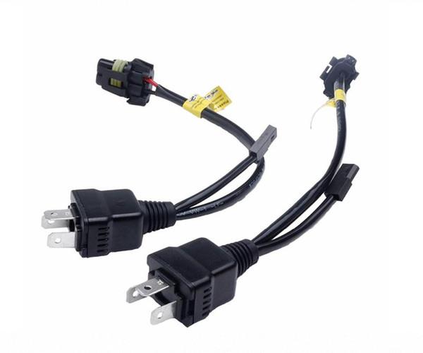 2 X Cavo di controllo cablaggio Easy Relay Per bi xeno H4 Hi / Lo Lampadine HID bi-xeno cablaggio Cablaggio 1 per 1 presa h4