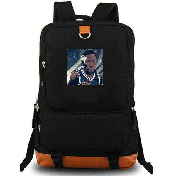 Kawhi Leonard sac à dos MVP sac à dos cartable de joueur de basket-ball Sac à dos pour ordinateur portable Sac à dos pour ordinateur portable Sac à dos de sport Sac à dos en plein air