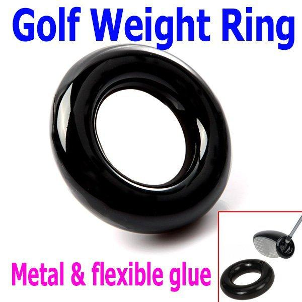 Free Shipping 2PCS/lot Black Round Weight Power Swing Ring for Golf Clubs Warm up Training Aid, Wholesale
