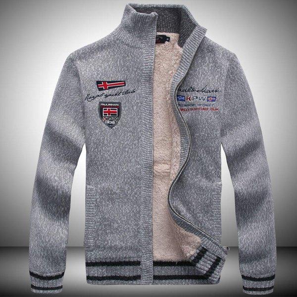Herren-Pullover Jacken aus Wolle Cashmere Designer Mäntel Thick Winter warm SHARK Printed Herren Coats