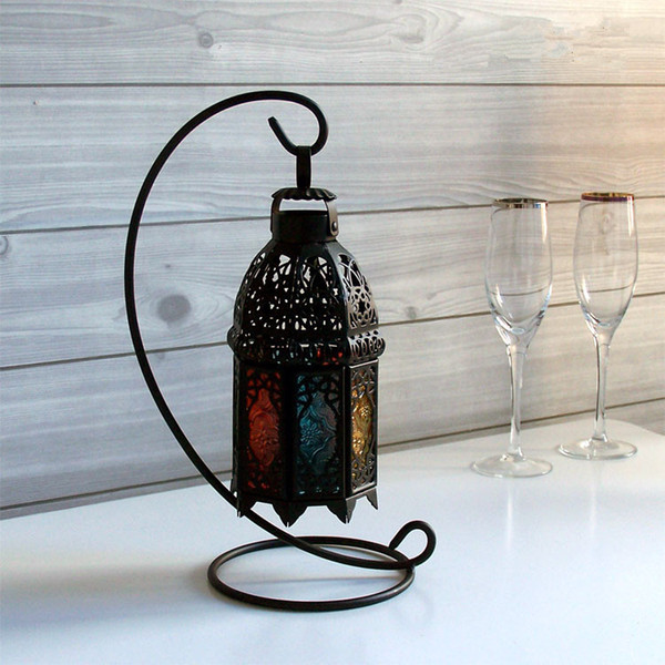Iron Candle Holder 2 Colors Black Hanging Candlestick Hooks Nordic Style Durable Candlestick Holder 10 Pieces DHL