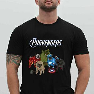 Pug Avengers End Game Thor Iron Man Hulk NiDesign Fury Funny Comic BlaDesign T-Shirt