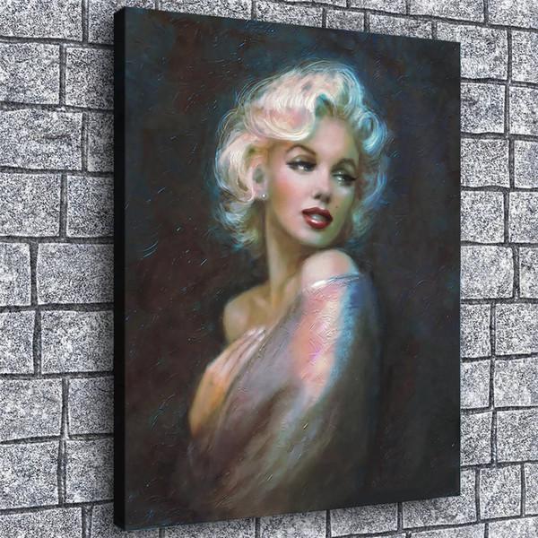 Мэрилин Романтичный, 1 шт Печать холст стены искусства маслом Home Decor (Unframed / Framed) 12x16.