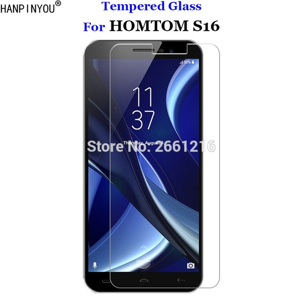 For HOMTOM S 16 Tempered Glass 9H 2.5D Screen Protector Film For HOMTOM S16 5.5""