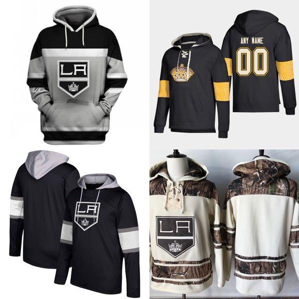 Maillot à capuche Kings de Los Angeles Hommes 8 Drew Doughty 11 Anze Kopitar 23 Dustin Brown 32 Jonathan Quick 77 Jeff Carter Chandails de hockey