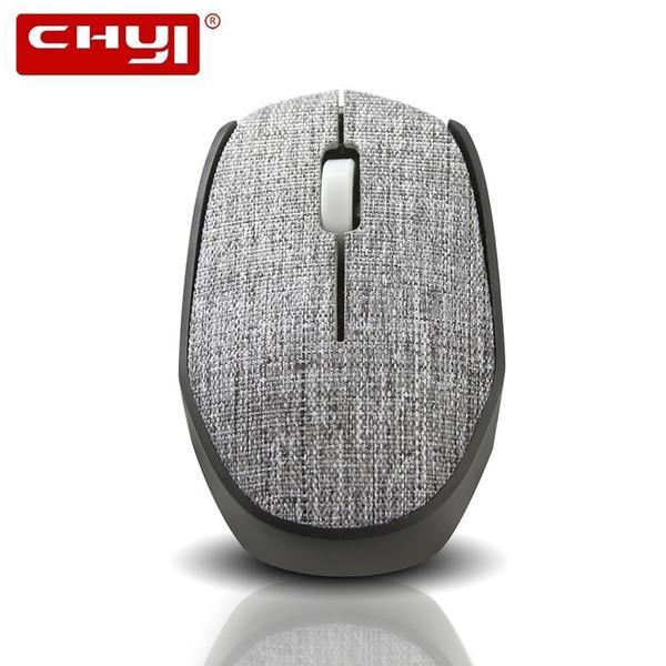 CHYI Mouse de Computador Sem Fio Mini 3D Tampa de Tecido Macio PC Ratos 1600 DPI Ergonômico USB Optical Mause Para Laptop jogo
