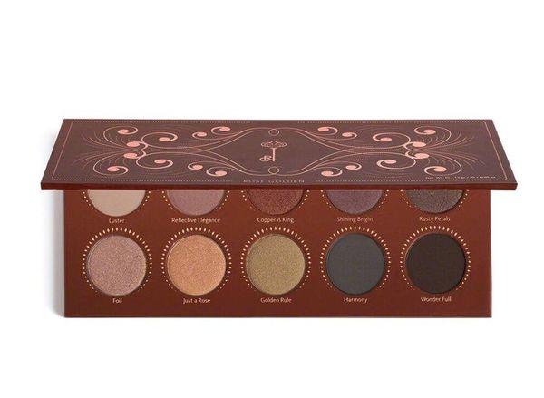 Nuevo estilo ROSE GOLDEN Marca 10 colores Paleta de sombra de ojos Cosmética duradera Perla mate Piedras preciosas Maquillaje Paleta de sombra de ojos