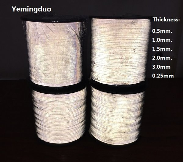 best selling 0.5 1.0 1.5 2.0 3.0 0.25MM Reflective Thread Normal Light Brightness Two Side Reflective Effection Warning Reflective Material