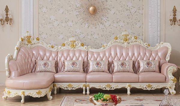 2019 Luxury European Style Wooden Full Leather Sofa Set Living Room  Furniture China Sofa 1+2+3 From Procarefoshan, $3668.35 | DHgate.Com