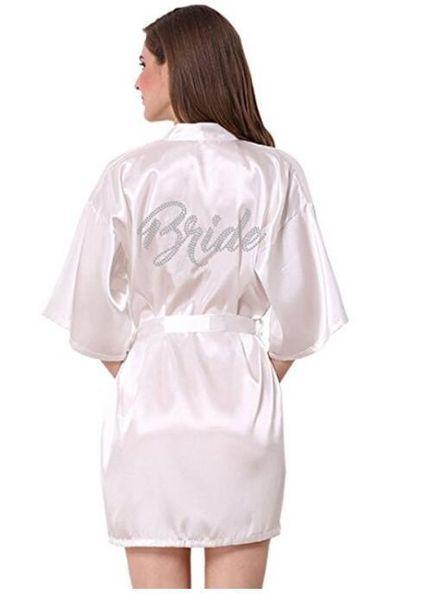 Silk Fashion Bridesmaid Bride Robe Sexy Women Short Satin Wedding Kimono Robes Sleepwear Nightgown Dress Woman Bathrobe Pajamas