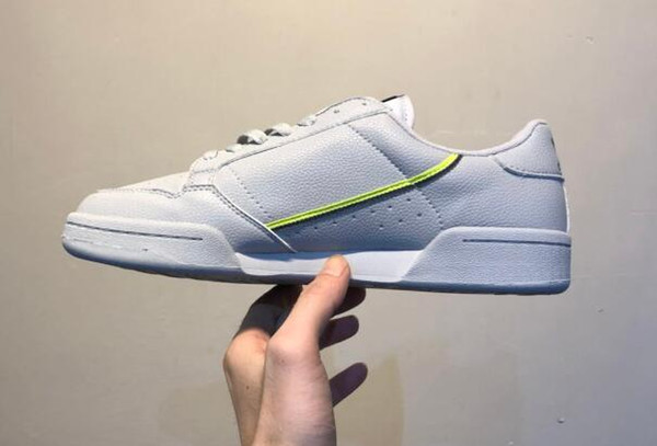 2018 Antik AContinental 80 Rascal Deri x Kanye West Rahat Ayakkabılar Beyaz OG Çekirdek Siyah Aero Mavi Gri Pembe Erkekler Moda Sneakers 36-45