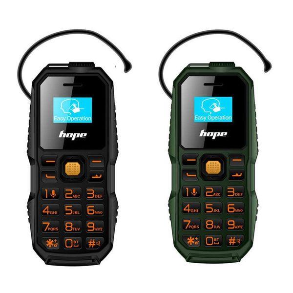 BM60 sem fio Bluetooth Dialer Fone de ouvido Headset cartão SIM 2G dupla 0,66 polegadas Micro GSM Mobile Phone Headphone Suporte para Xiaomi Huawei