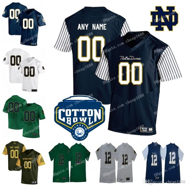 c0a61637cb8 Custom Mens Womens Kids Notre Dame Fighting Irish Shamrock Series stitched  Any Name Any Number NCAA