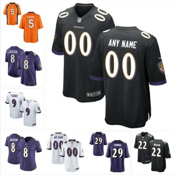 new concept 19777 5f728 2019 Justin Tucker Lamar Jackson Jersey Ravens Mark Ingram Earl Thomas Joe  Flacco Ray Lewis Authentic Custom American Football Jerseys Authentic From  ...