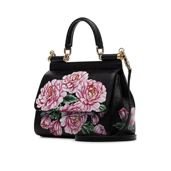 New Sicilian Printed Bag Female Euro-American Colour-matching Hand-held Fashion Colour-Colouring Female Single Shoulder Bag