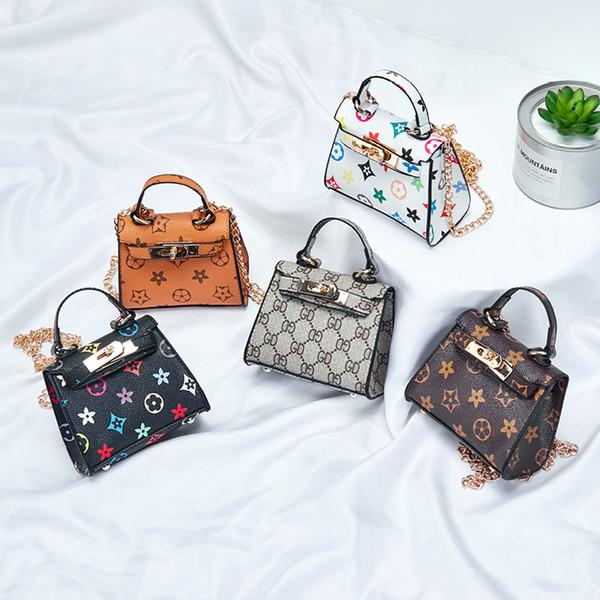 Nuevos bolsos para niños Diseñador de la impresión del bebé Mini monedero Bolsas de hombro Adolescentes niños Niñas Bolsas de mensajero Regalos de Navidad lindo C5600