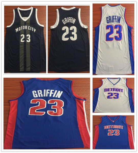 sports shoes 1ff7d a569a 2019 Stitched Men 23 Blake Griffin Jerseys New City Edition Black Grey Blue  Color Blake Griffin Jersey Stitched Sportswear Shirts High Quality From ...
