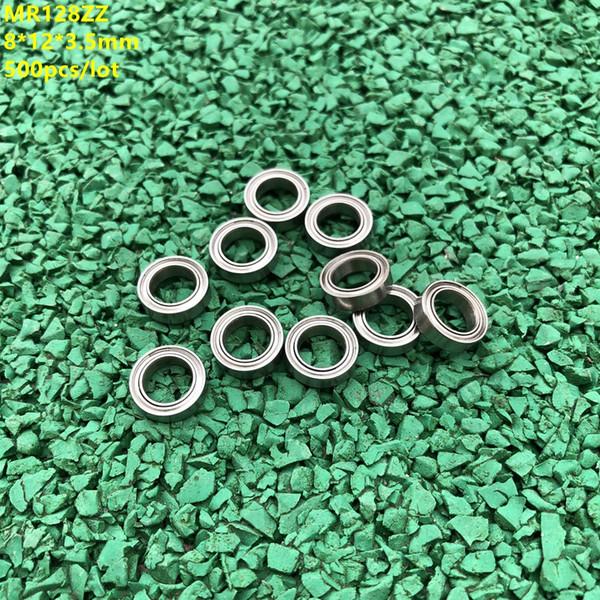500 шт. / лот MR128ZZ MR128 ZZ радиальный шарикоподшипник 8x12x3. 5 мм миниатюрный мини-металлический экранированный MR128Z 8*12*3.5 мм 678ZZ 678 ZZ