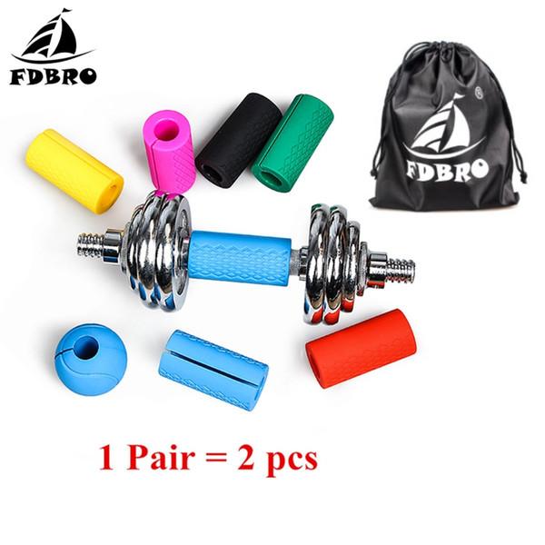 FDBRO 1 paire poignées haltères haltères Kettlebell Grip poignées de barre épaisse Pull Up Support de haltérophilie Anti-Slip Protect Pad